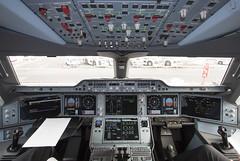 Finnair A350-900 OH-LWB cockpit at LHR (HR aviation photography) Tags: cockpit lhr egll hel finnair airbus a350900 a350 xwb a350xwb aircraft airplane airport jet oneworld canon