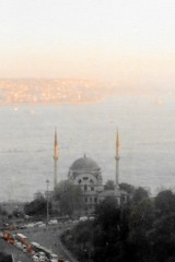 Istanbul - Taksim - Ritz Carlton - View from the Hotel - Dolmabahçe Mosque (jrozwado) Tags: europe turkey türkiye istanbul taksim beyoğlu dolmabahçe mosque camii islamic minaret minare ritzcarlton hotel bosphorus boğaziçi βόσποροσ