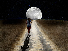Country Road on a Bright Summer Eve (ClaraDon) Tags: photoshop countryroad manipulation fullmoon