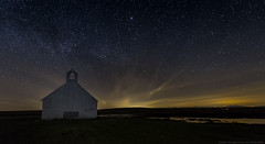 Church of the stars (explored 27/4/17) (MarkWaidson) Tags: cwyfan anglesey stars milkyway night ambient light porth church beach wales
