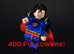 400 Followers Reached! (MrKjito) Tags: lego minifig super boy prime 400 followers flickr milestone custom man kal el time
