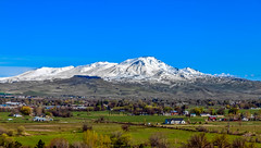 Spring View Of Squaw Butte (http://fineartamerica.com/profiles/robert-bales.ht) Tags: easternidaho emmett forupload gemcounty haybales idaho landscape mountain people photo places projects states snow spring sweet sunrise squawbutte farm rollinghills scenic idahophotography treasurevalley clouds emmettvalley emmettphotography trees sceniclandscapephotography thebutte canonshooter beautiful sensational awesome magnificent peaceful surreal sublime magical spiritual inspiring inspirational wow stupendous robertbales town butte goldenhour sunset valley greetingcard