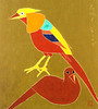 Golden pheasant (Japanese Flower and Bird Art) Tags: bird golden pheasant chrysolophus pictus phasianidae morikazu kumagai modern woodblock print japan japanese art readercollection