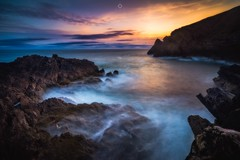 Static Palatte (Augmented Reality Images (Getty Contributor)) Tags: canon cliffs clouds colours dawn landscape leefilters longexposure morayfirth portknockie rocks scotland sunrise water waves