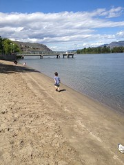 disappearing beach (scottsara.reynolds) Tags: canada britishcolumbia kamloops iphone flickup