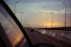 Reflections (Mustafa Hashmi) Tags: blue pakistan sunset sky car nikon streetlights 1855mm punjab multan shafaq d5100 muzaffargargh bridgeontheriverchenab