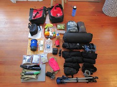 NotBC8 packing photo (joeball) Tags: seattle camping bike bicycle forest river notes ben packing country north gear fork son national list touring snoqualmie overnight lotsofnotes point83 bikecamping bc8 s24o bencountry 20130511 bencountry8 notbencountry