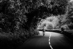 iRide - taken by my better half (Sebastian Bzinkowski) Tags: road blackandwhite monochrome tarmac sport mono cycling nikon ride riding blacknwhite roadbike roadcycling nikond7000