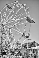 DSCF6864 (RHMImages) Tags: blackandwhite bw fuji ride fair ferriswheel fujifilm countyfair contracostacounty x100s