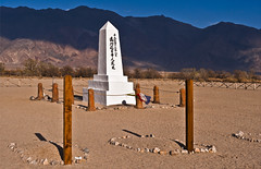 Manzanar Cemetery (RiverBearPhoto) Tags: world camp pine japanese us concentration photo site wire highway war towers guard honor center jackson medal historic civil leon national ii hero lone americans relocation internment liberties barbed privacy lack manzanar primitive 395 conditions us395 substandard sadao riverbear munemori