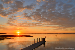Sunrise ... 6-7-13 (Ken Scott) Tags: usa reflection sunrise spring dock michigan may lakemichigan greatlakes marsh freshwater awesomeness westbay grandtraversebay leelanau 45thparallel 2013