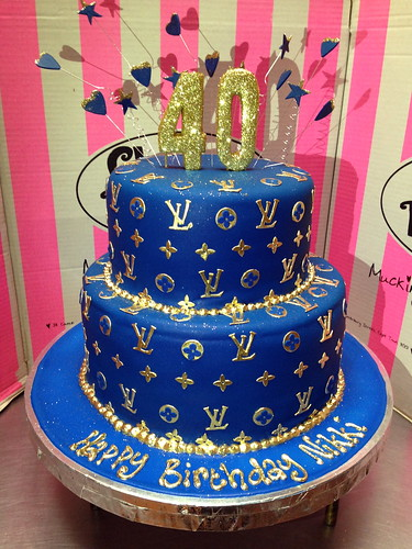 2 Tier Louis Vuitton Themed Wicked Chocolate Cake Covered In Royal