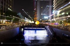 Cheonggye Stream (MarkDeibertPhotography) Tags: city urban night lights stream cityscape zoom korea seoul southkorea urbanscape gwanghwamun cheonggyestream gwanghwamunsquare