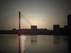 Nantes pont Eric Tabarly et coupole de l'Hotel de Région (ChevillonW) Tags: reflection mirror ile reflet loire reflexion nantes atlantique loireatlantique