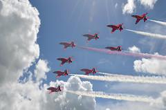 Red Arrows nine (PentlandPirate of the North) Tags: team hawk nine bae redarrows raf aerobatic royalairforce