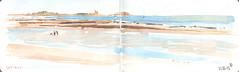 130721 l'île de Tatihou (Vincent Desplanche) Tags: watercolor sketch aquarelle normandie normandy croquis