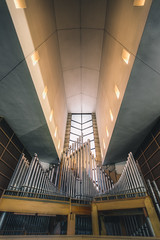 Organus Maximus (MightyBoyBrian) Tags: church pipes wideangle lookingup organ editing converginglines makeithappen tonemapped tonemapping canon5dmark3