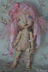 Commission makeup/body blushing on august (heliantas) Tags: tattoo doll body handmade bjd kane humpty dumpty blushing faceup nefer
