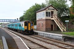 150227 Llandrindod Wells 0900 Shrewsbury - Newport 28-6-13 (6089Gardener) Tags: llandrindodwells class150 150227 heartofwalesline