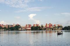 Howrah Station, view from Hoogly River (Rajagopalan Sarangapani) Tags: travel blue india station landscape boat rj railway kolkata calcutta raj rajagopalan howrah cwc northindia 283 sarangapani hooglyriver chennaiweekendclickers rjclicks