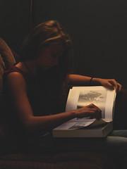 Knowledge (HelloImKatie) Tags: girl canon dark rebel book megan blonde knowledge t3