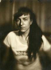 Aniroka Kanele (NooFZz) Tags: portrait bw monocle photographicpaper paperpositive