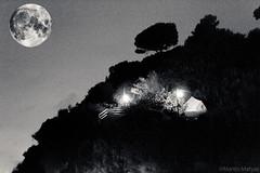 Natural Born Camper (Martin.Matyas) Tags: camping blackandwhite bw moon blackbackground canon mond blackwhite nacht tent sw schwarzweiss bäume schwarz zelt dunkelheit schwarzerhintergrund canonefs1785isusm schwarzweissfoto eos7d