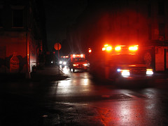 IMG_1210 (Mondo Circus Imaging) Tags: newyork les night canal hurricane lowereastside orchard ambulance ludlow blackout convoy canalstreet orchardstreet orchardst ludlowstreet ludlowst hurricanesandy