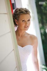 Tanya (ZekaG) Tags: wedding girl bride photographer dress cottage blond sacramento peeking gettingready lookingout sactown loomiscalifornia hibiscusroom lixximphotography flowrefarminn