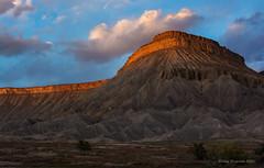 Mt. Garfield (Happy Photographer) Tags: sunset mountain colorado grandjunction mtgarfield happyphotographer amyhudechek