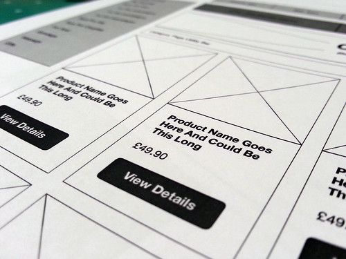 Wireframing e-Commerce Website