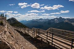 Stairway to Heaven (Kristin Repsher) Tags: canada mountains clouds nikon bluesky walkway alberta banff landforms banffnationalpark canadianrockies banffgondola d700
