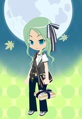 Hikari (Black Dolls) Tags: blue moon hair eyes blauw style sneakers blouse adventure dresses trousers pullip simple hikari haar uncanricky