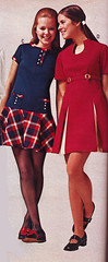 Pennys 70 fw blue and red (jsbuttons) Tags: clothing dress buttons skirt womens 70s catalog 1970 seventies 70 miniskirt pennys jcpenny vintagefashion