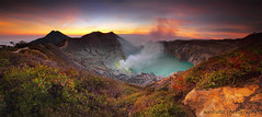 PANORAMIC OF IJEN CRATER (ManButur PHOTOGRAPHY) Tags: cloud mountain clouds canon eos colorful exposure smoke explorer explore crater caldera sulfur efs miner contras eastasia colourfull canonefs1022mmf3545usm eastjava ijen canon7d idjen manbutur manbuturphotography