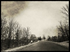over the river and through the woods (javan123) Tags: bw snow vanishingpoint cellphone 2013 flickrandroidapp:filter=narwhal