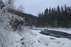 Brule River - Judge CR Magney State Park (turn off your computer and go outside) Tags: november winter snow outdoors freeze mn snowybranches bruleriver minnesotastatepark judgecrmagney