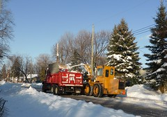 After the Storm - Apres la tempete (anng48) Tags: winter canada quebec hiver camion trucks qc dorval snowblower snowremoval deneigement deneigeuse