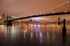 Brooklyn Bridge (michaelelliottnyc) Tags: nyc longexposure bridge reflection night cityscape brooklynbridge impressedbeauty bestcapturesaoi elitegalleryaoi