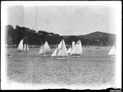 Sailboats on Pittwater (Australian National Maritime Museum on The Commons) Tags: race sailing yacht sydney racing hood regatta boomerang sydneyharbour yachting pittwater sailingboat samhood hoodcollection samueljhoodcollection samueljhoodstudiocollection