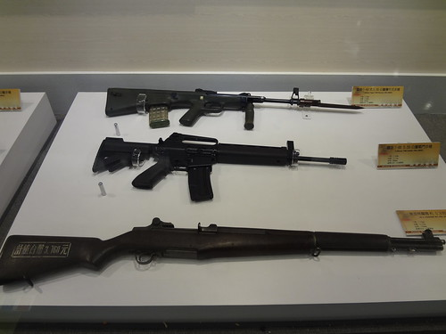 Various firearms