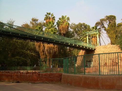 Suspended Bridge, Giza zoo, Cairo Egypt