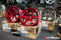 """VOLK Racing TE37SL 18x9.5 +22 Hyper Red • <a style=""""font-size:0.8em;"""" href=""""http://www.flickr.com/photos/64399356@N08/12913747655/"""" target=""""_blank"""">View on Flickr</a>"""