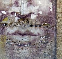 numb (maximorgana) Tags: street art texture mouth nose derelict cartagena decayed