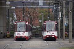 DVG 1016 en DVG 1022 in Tramdepot Duisburg 15-03-2014 (marcelwijers) Tags: en duisburg 1022 strassenbahn tramdepot 1016 dvg strasenbahn 15032014