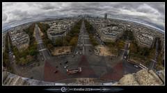 L'étoile de l'Arc de Triomphe (Erroba) Tags: paris canon belgium belgique belgië fisheye erlend larcdetriomphe baloney létoile 60d erroba robaye