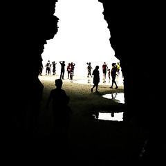 saliendo de la cueva (Explore 2014-04-09) (ines valor) Tags: playa galicia verano playadelascatedrales