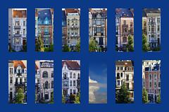 Bruxelles - Brussels - Cadre bleu (CGilles7) Tags: brussels sky cloud house flat belgium belgique belgi front ciel nuage maison appartement faade gilles7