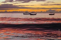 Infrared (yuriye) Tags: red infrared sky dusk sunset sea wave distortion reflection water cloud boat silhouette myanmar rakhine arakan ngapali silence beauty light tropic bengal မြန်မာ