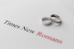 Times New Romans (MagnusBengtsson) Tags: ringar stilleben kärlek typsnitt font stillife rings fs170219 romantik fotosondag timesnewroman